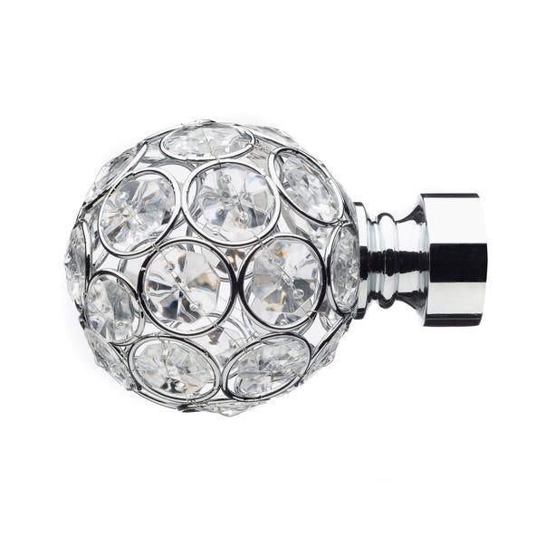 Mix and Match Chrome Diamante Ball Finials Dia. 28mm