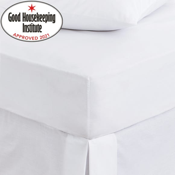 Non Iron Plain Fitted Sheet White undefined