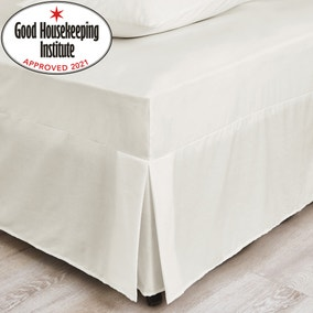 Non Iron Plain Dye Ivory Fitted Valance