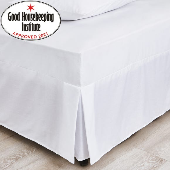 Non Iron Plain Dye White Fitted Valance  undefined