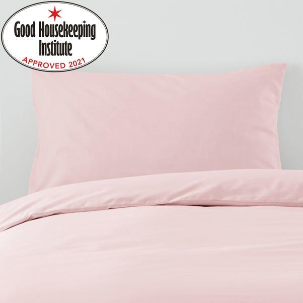 Non Iron Plain Dye Dusky Pink Housewife Pillowcase Pair