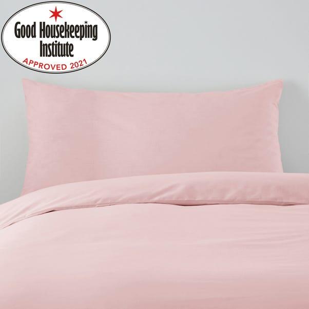 Non Iron Plain Dye Kingsize Dusky Pink Pillowcase Pair