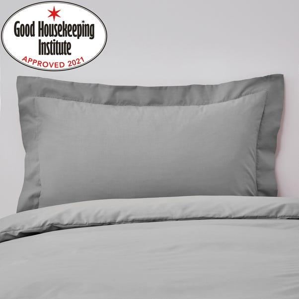 Non Iron Plain Dye Slate Oxford Pillowcase