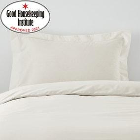 Non Iron Plain Dye Ivory Oxford Pillowcase