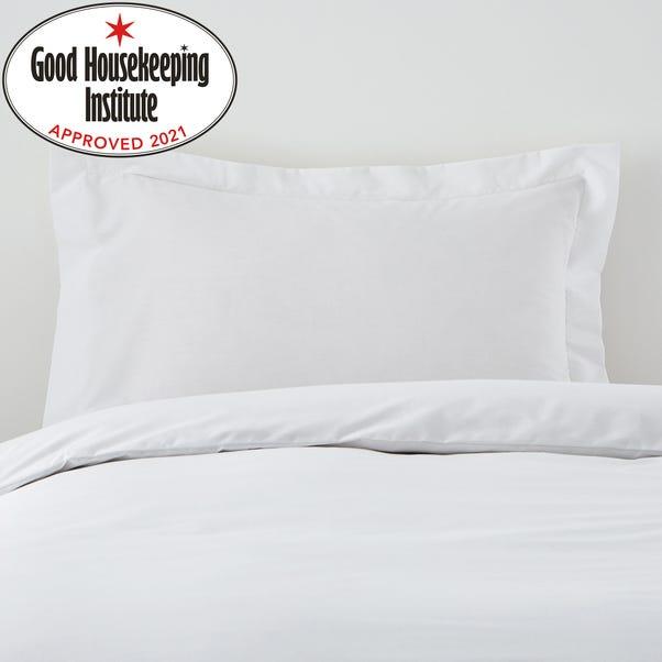 Non Iron Plain Dye White Oxford Pillowcase White