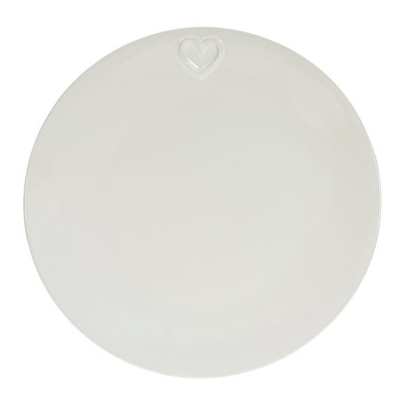 Country Heart Dinner Plate Off-White