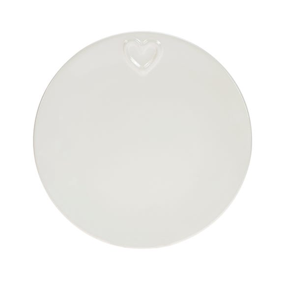 Country Heart Side Plate Off-White