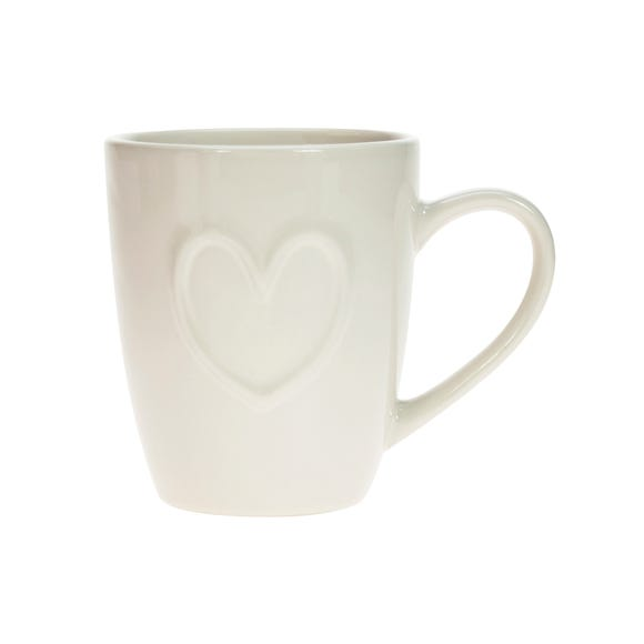 Country Heart Mug Off-White