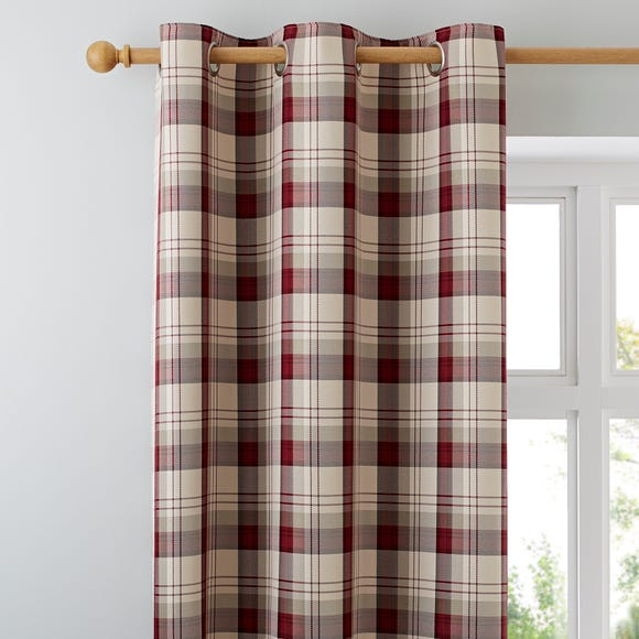 Balmoral Red Eyelet Curtains Red undefined