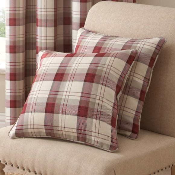 Balmoral Red Cushion Red