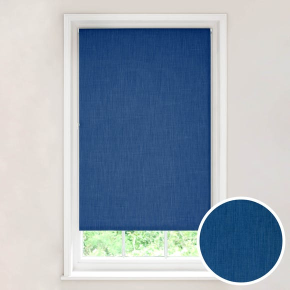 Solar Blue Blackout Roller Blind Blue undefined
