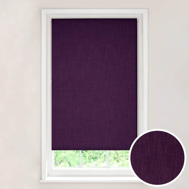 Solar Aubergine Blackout Roller Blind Aubergine (Purple) undefined