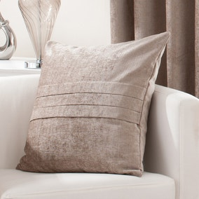 Large Chenille Taupe Cushion