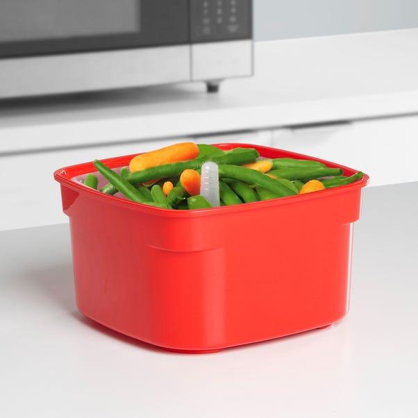 Sistema 1.4 Litre Microwave Steamer Red