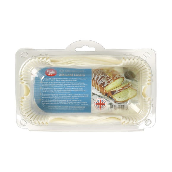 Tala Pack of 40 Loaf Tin Liners White