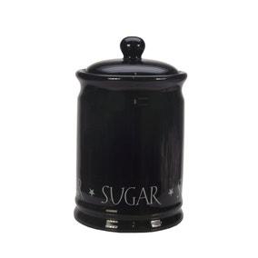 Vintage Black Text Sugar Canister