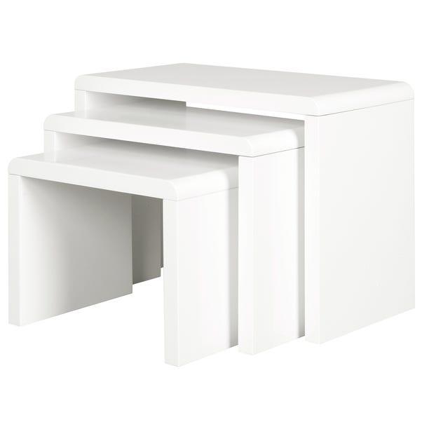 Soho White Gloss Nest of Tables White