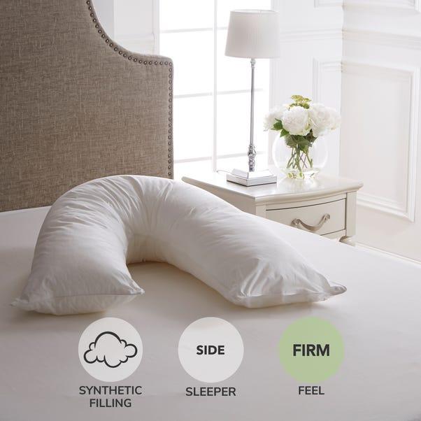 Dorma Full Forever V-Shaped Firm-Support Pillow White
