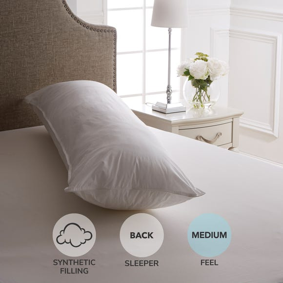 Dorma Full Forever Medium-Support Body Pillow White