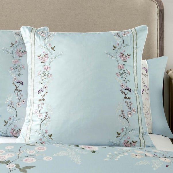 Dorma Maiya Duck Egg Continental Square Pillowcase Duck Egg (Blue)