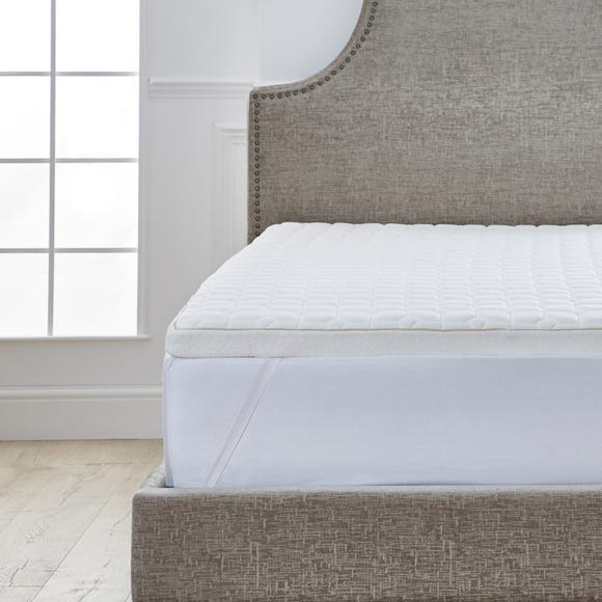 Dorma Tencel Blend Memory Foam Mattress Topper White undefined