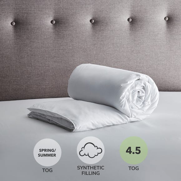 Fogarty Soft Touch 4.5 Tog Duvet White undefined