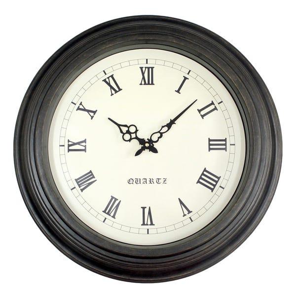 Oakham 53cm Wall Clock Black Black