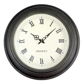 Oakham 53cm Wall Clock Black