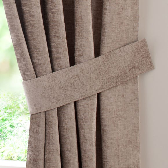 Taupe Chenille Curtain Tiebacks Taupe (Brown)