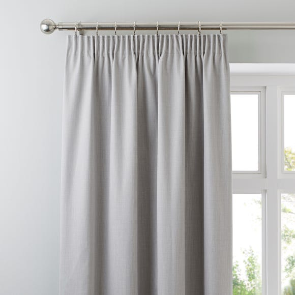 Solar Grey Blackout Pencil Pleat Curtains  undefined