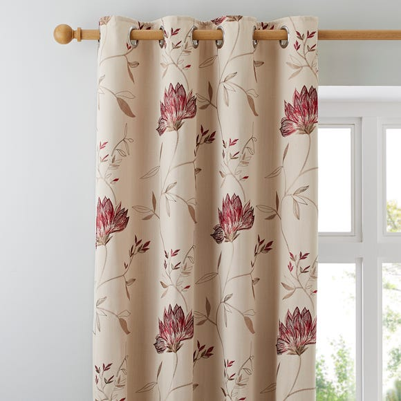 Amelia Red Eyelet Curtains  undefined