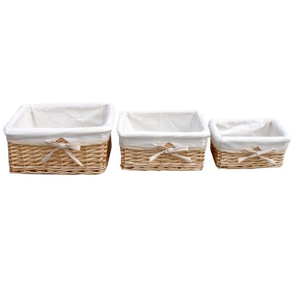 Farmstead Set Of Three Baskets Mink