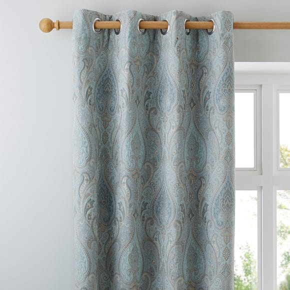 Novello Duck-Egg Eyelet Curtains  undefined
