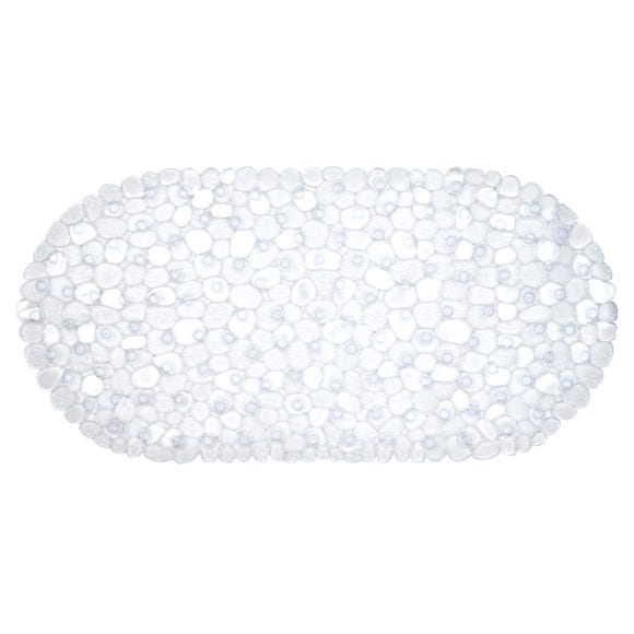 Pebble PVC Bath Mat Clear