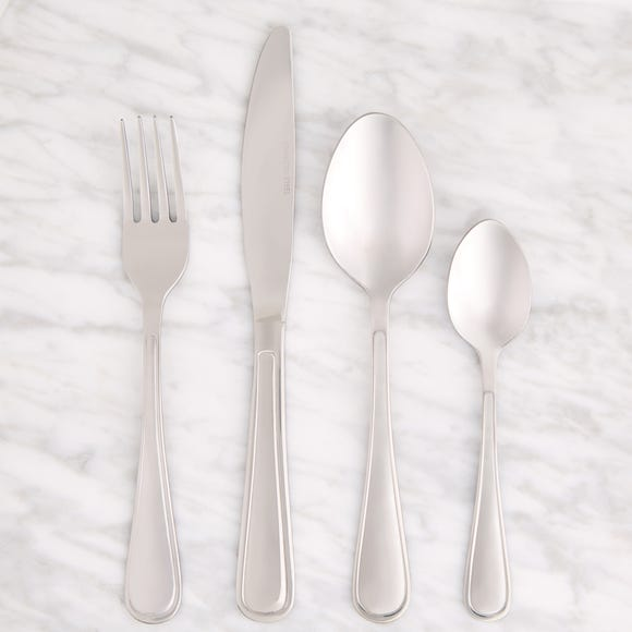 Anston 16 Piece Cutlery Set Silver