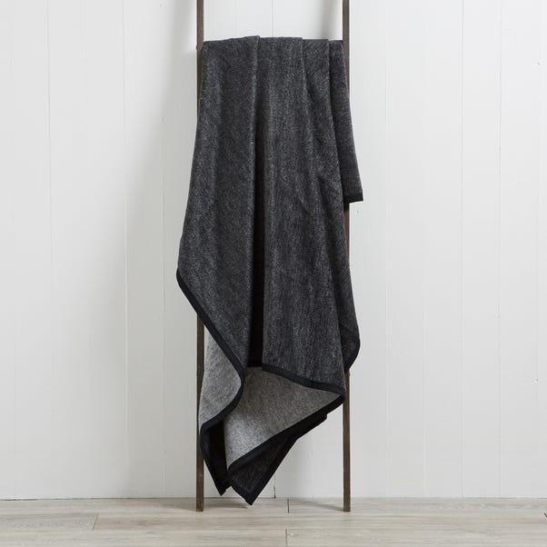 Thermosoft Textures 220cm x 240cm Blanket Grey