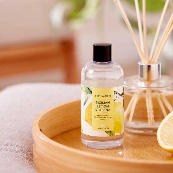 Wax Lyrical Lemon Verbena 250ml Reed Diffuser Refill Yellow
