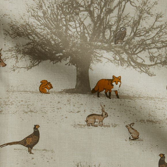 Tatton Autumn Cotton Fabric Autumn (Brown)