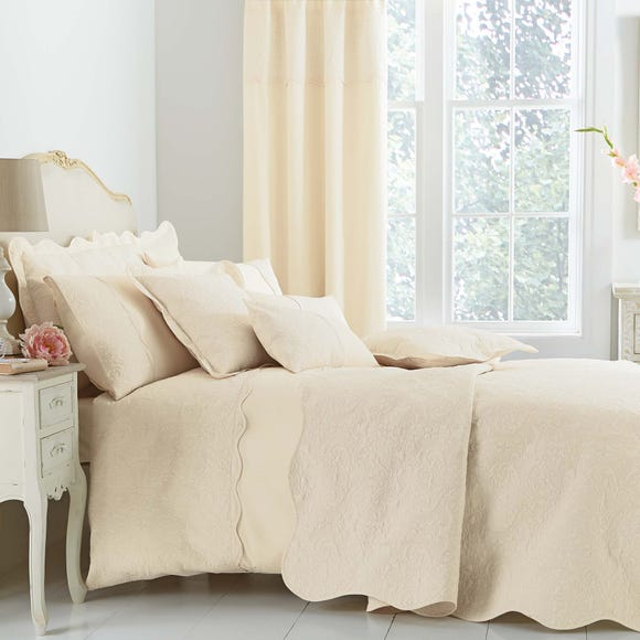 Ebony Embroidered Cream Duvet Cover  undefined
