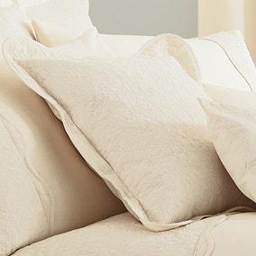 Ebony Cream Square Oxford Cushion