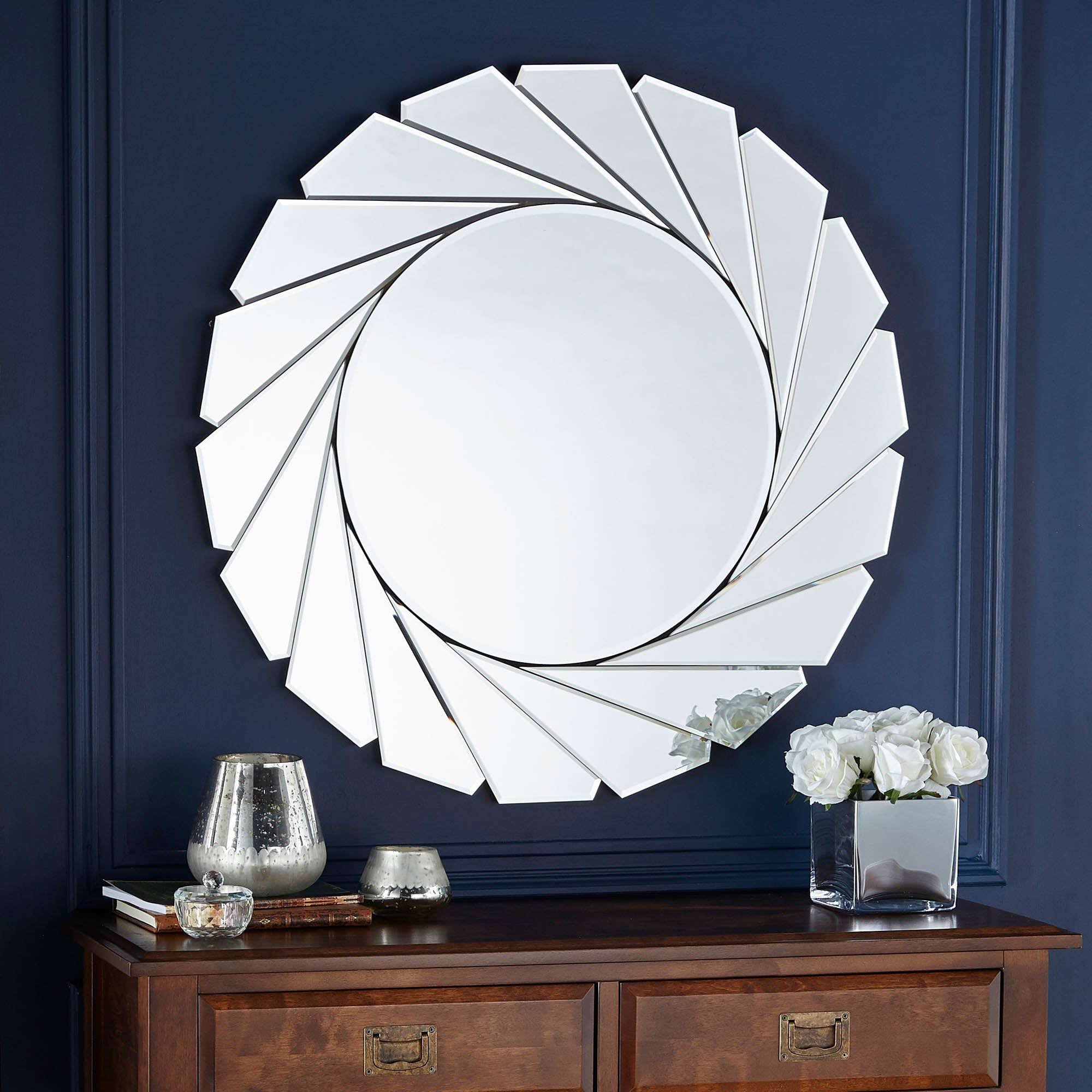 Click to view product details and reviews for Clear Edge Wall Mirror 80cm Silver.
