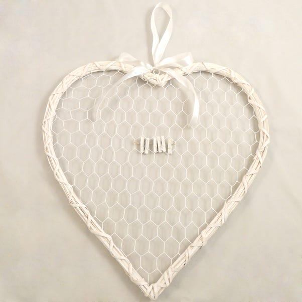 Wedding Heart Card Holder White