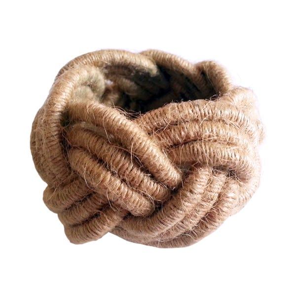 Rope Napkin Ring Brown Brown