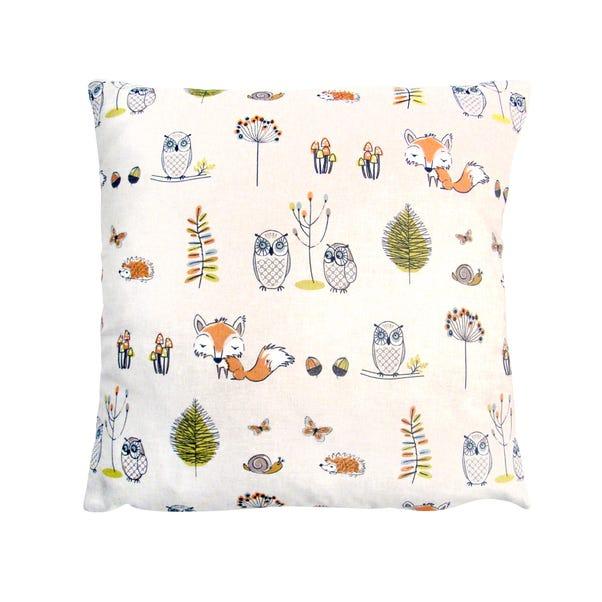 Woodland Scene Cushion Cover MultiColoured