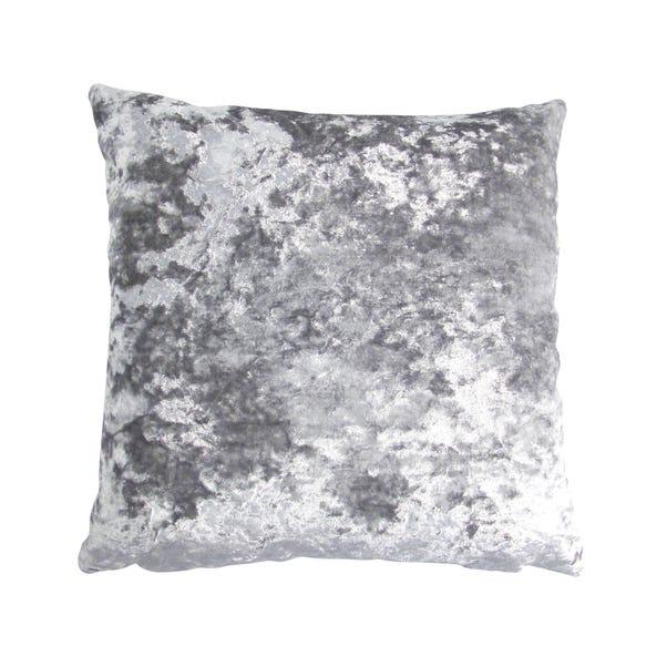 Velvet Merlin Cushion Cover Silver undefined