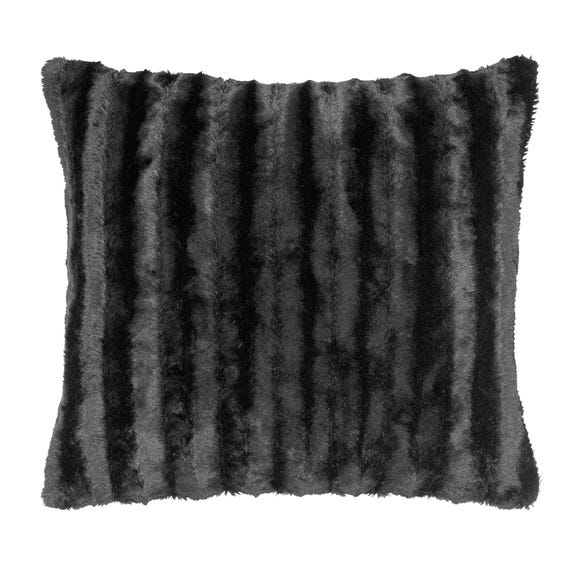 Black Plush Cushion Black