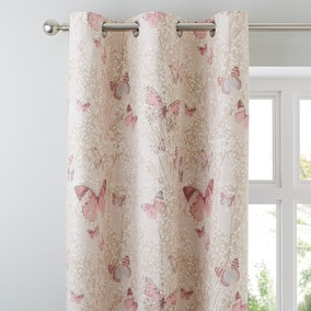 Botanica Butterfly Blush Thermal Eyelet Curtains