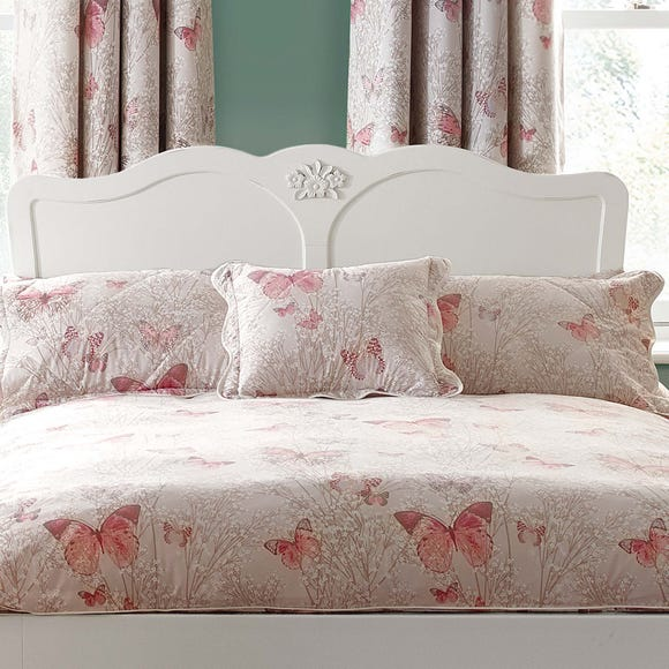 Botanica Butterfly Blush Square Cushion Blush (Pink)