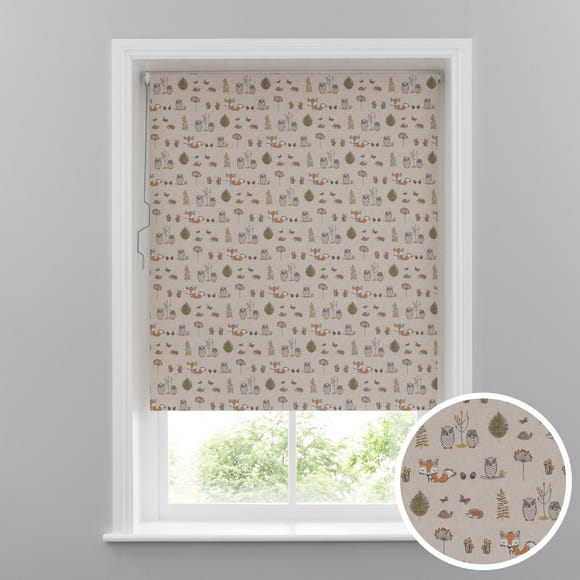 Woodland Fox Blackout Cordless Roller Blind Cream undefined