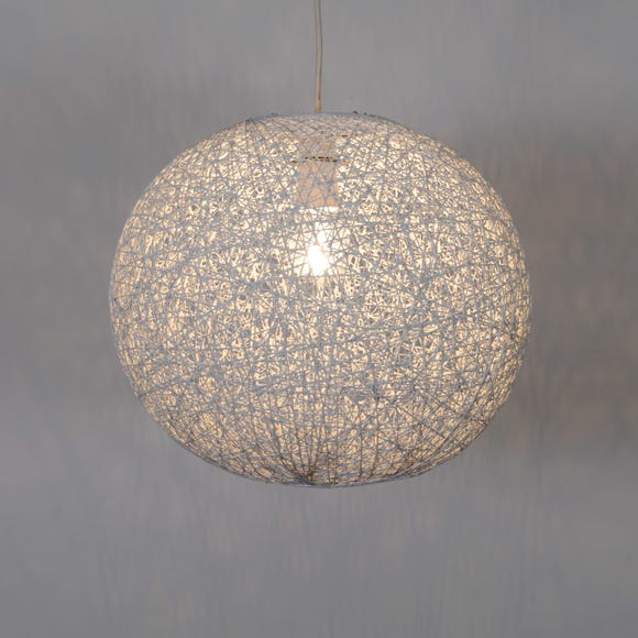 Abaca Ball 36cm White Easy Fit Pendant White